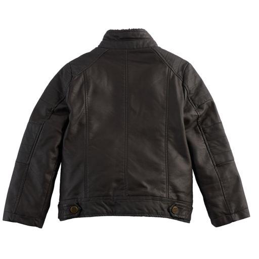 Boys 4-7 Urban Republic Faux Leather Moto Midweight Jacket