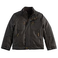 Boys 4-7 Urban Republic Faux Leather Moto Midweight Jacket