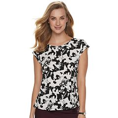 044636e8a61ba6 Women s ELLE™ Printed Crepe Top
