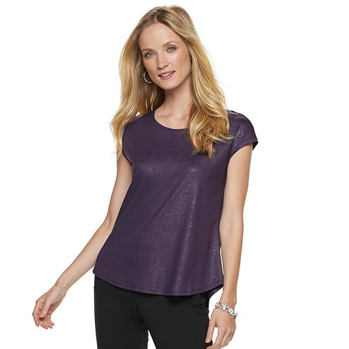 Women's ELLE™ Printed Crepe Top