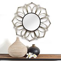 Stratton Home Decor Flower Mirror Wall Decor