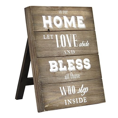 "Stratton Home Decor ""Home"" Farmhouse Table Decor"