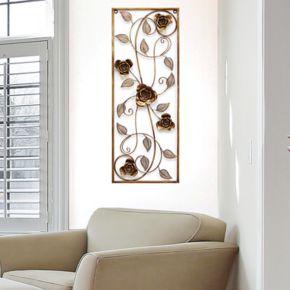 Stratton Home Decor Metal Rose Panel Wall Decor
