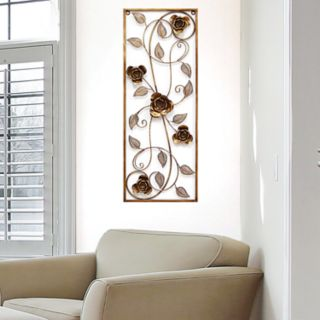 Stratton Home Decor Metal Rose Panel Wall Decor