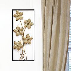 Stratton Home Decor Metal Flower Panel Wall Decor