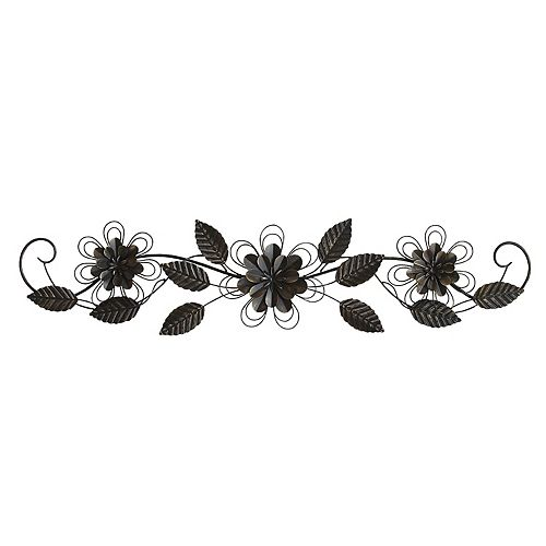Stratton Home Decor Metal Flower Over-The-Door Wall Decor