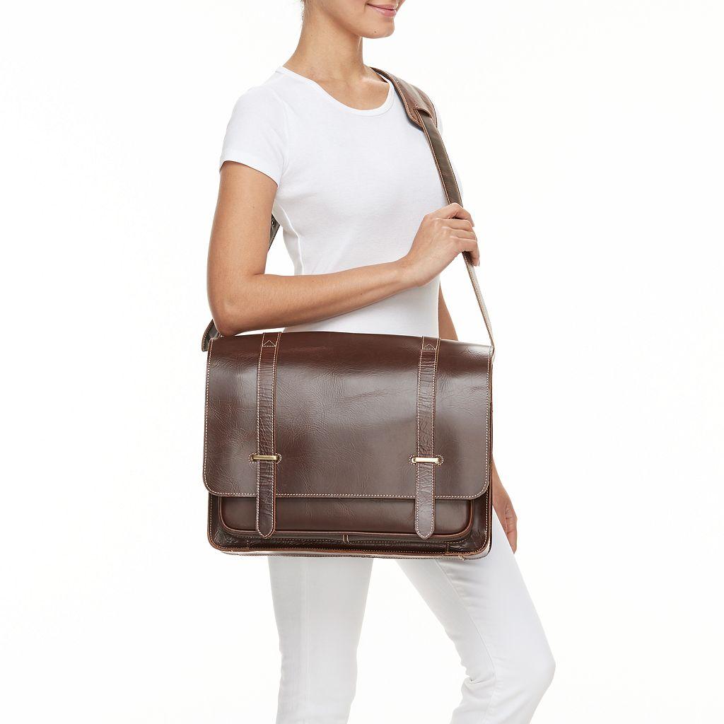 AmeriLeather Leather Laptop Messenger Bag