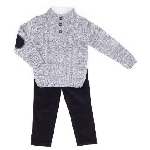 Baby Boy Little Lad 2-pc. Sweater & Corduroy Pants Set