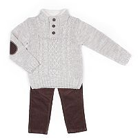 Baby Boy Little Lad 2-pc. Sweater & Corduroy Pants Set