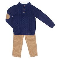 Baby Boy Little Lad 2 pc Sweater & Corduroy Pants Set
