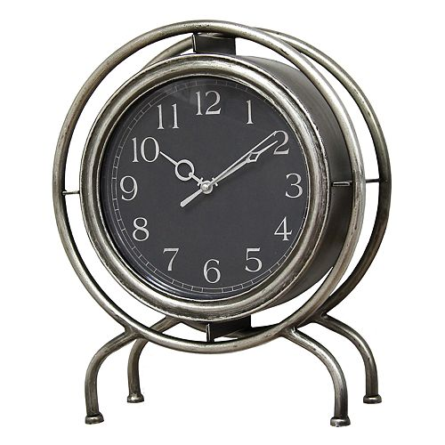 Stratton Home Decor Industrial Clock Table Decor