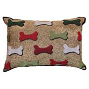 Park B. Smith Holiday Bones Oblong Throw Pillow