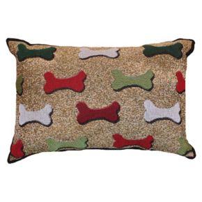 Park B. Smith Holiday Bones Oblong Throw Pillow