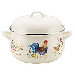 Paula Deen Enamel-on-Steel Garden Rooster 8-qt. Stockpot