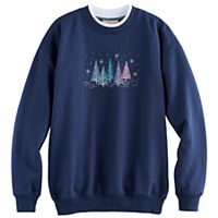 Women's Holiday Embroidered Sweatshirt