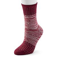 Women's Cuddl Duds Space-Dyed Crew Socks