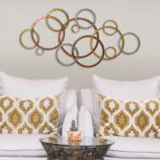 Stratton Home Decor Tri-Color Circles Wall Decor