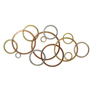 Stratton Home Decor Tri-Color Circles Wall Decor