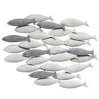 Stratton Home Decor Metal School Of Fish Wall Decor