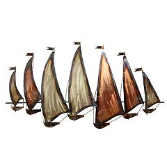 Stratton Home Decor Metallic Sailboat Wall Decor