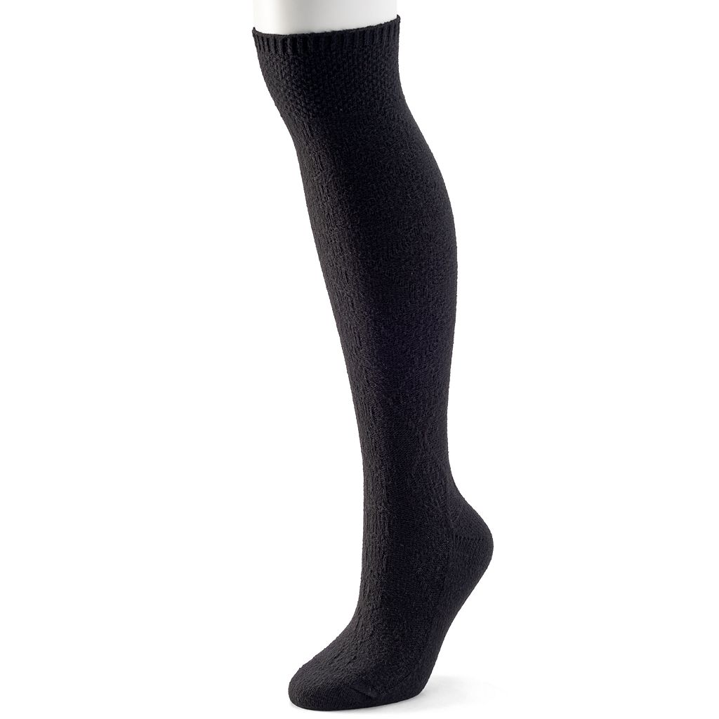 Women's Cuddl Duds Seed Stitch Cuff Over-the-Knee Socks