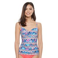 Women's Croft & Barrow® Bust Enhancer Twist Tankini Top