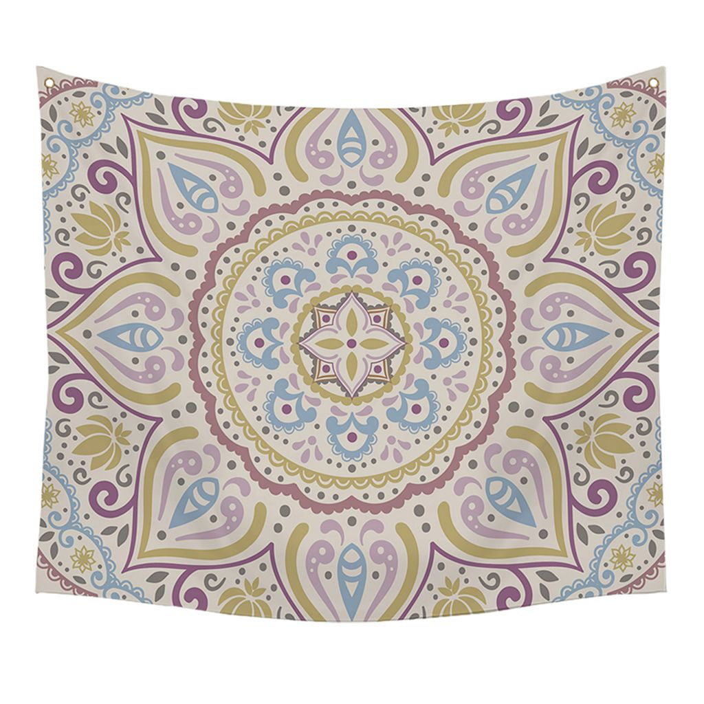 Stratton Home Decor Medallion Kaleidoscope Wall Tapestry