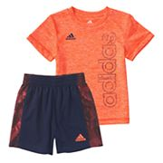 Baby Boy adidas Supreme Speed Graphic Tee & Shorts Set