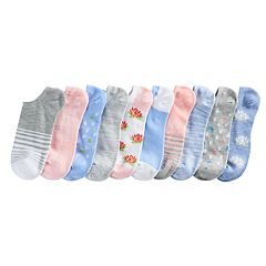 Women's SONOMA Goods for Life™ 10 pkPastel Low-Cut Socks