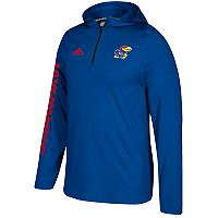 Men's adidas Kansas Jayhawks Sideline Training Hooded Pullover