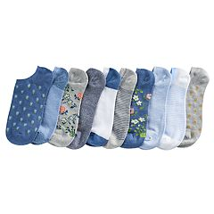 Women's SONOMA Goods for Life™ 10 pkFloral Low-Cut Socks