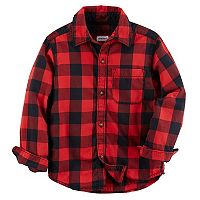 Boys 4-8 Carter's Buffalo Check Flannel Button Down Shirt