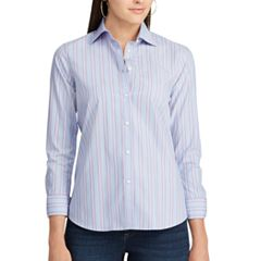 Women's Chaps Striped Non-Iron Button-Down Shirt