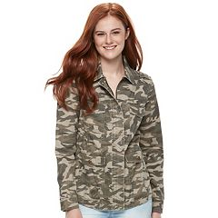 Juniors' Mudd® Twill Utility Jacket