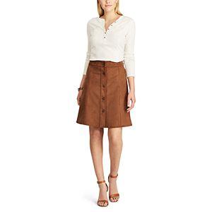 Women's Chaps Faux-Suede A-Line Skirt