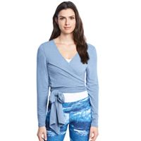 Women's Danskin Side Tie Long Sleeve Wrap