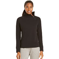 Women's Danskin Slant Zipper Pullover Top