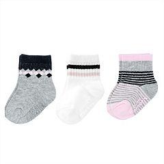Baby / Toddler Girl Carter's 3 pkStriped Crew Socks