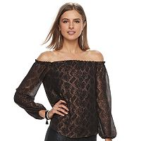 Women's Rock & Republic® Lace Off-the-Shoulder Top