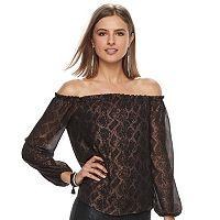 Women's Rock & Republic® Lace Off-the-Shoulder Top