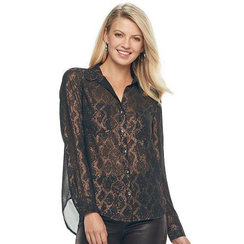 Women's Rock & Republic® Lace Shirt