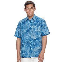 Men's Havanera Classic-Fit Tonal Tropical Linen-Blend Button-Down Shirt