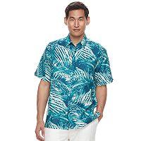 Men's Havanera Classic-Fit Tropical Linen-Blend Button-Down Shirt