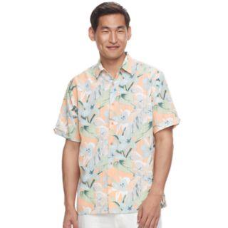 Men's Havanera Classic-Fit Floral Dobby Button-Down Shirt