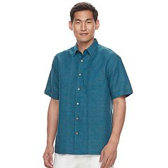 Men's Havanera Classic-Fit Linen-Blend Button-Down Shirt