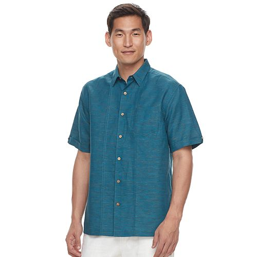 Men's Havanera Classic-Fit Linen-Blend Button-Down Shirt