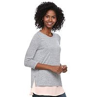 Maternity a:glow Mixed-Media Nursing Top