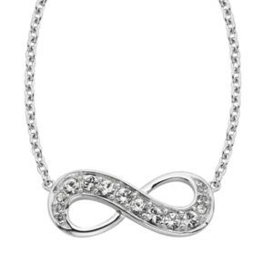 Diamond Splendor Sterling Silver Crystal and Diamond Accent Infinity Necklace