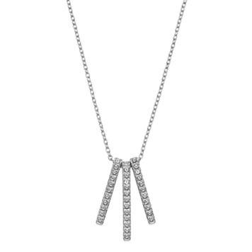 Diamond Splendor Sterling Silver Diamond Accent Stick Pendant