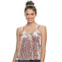 Juniors' Mudd® V-Neck Velvet Swing Tank